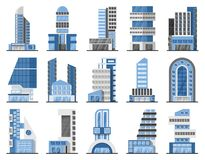 Set of office buildings Stock Photo