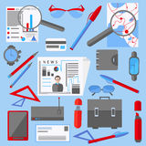 Set  office and business elements phone Stock Image