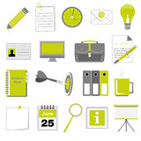 Set of office and business icons Stock Photos