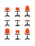 Set of office chair Royalty Free Stock Image