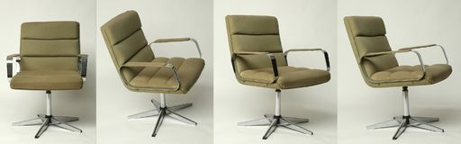 Set of office chair old design Royalty Free Stock Photography