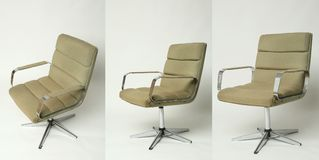 Set of office chair old design Royalty Free Stock Photo