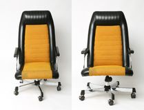 Set of office chair old design Royalty Free Stock Image