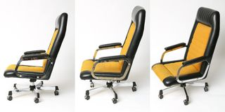 Set of office chair old design Stock Photos