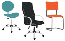 Set of office chairs Royalty Free Stock Photo