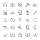 Set of Office Doodle Icons royalty free illustration