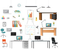 Set of office elements Royalty Free Stock Photos