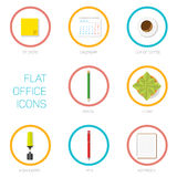 Set of office flat icons Royalty Free Stock Photo