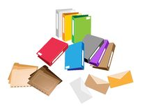 A Set of Office Folder and Close Envelope Stock Photos
