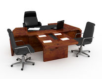 Set of office furniture vector illustration
