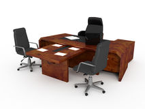 Set of office furniture Royalty Free Stock Images