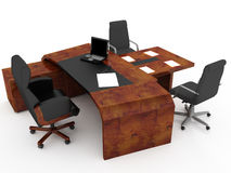 Set of office furniture Stock Photography