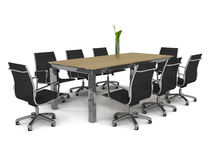 Set of office furniture Stock Photos