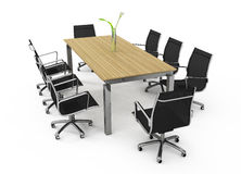 Set of office furniture Stock Photo