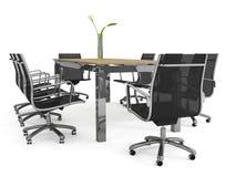Set of office furniture Stock Photos