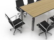 Set of office furniture Stock Image
