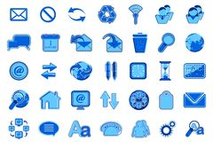 Set of Office Icon Royalty Free Stock Photo