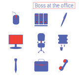Set of office icons Stock Photo