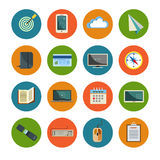 Set of office icons Royalty Free Stock Images