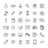 Set of office icons in modern thin line style. Royalty Free Stock Photos
