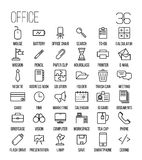 Set of office icons in modern thin line style. High quality black outline business symbols for web site design and mobile apps. Simple linear office pictograms Stock Photos