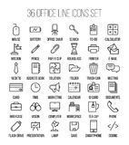 Set of office icons in modern thin line style. Stock Photos