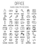 Set of office icons in modern thin line style. High quality black outline business symbols for web site design and mobile apps. Simple linear office pictograms Stock Photo