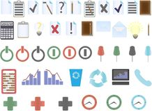 Set of office icons Royalty Free Stock Image