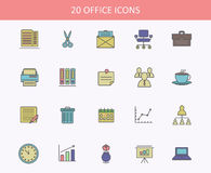 Set of office icons for web or UI design. Royalty Free Stock Image