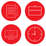 Set of office icons. Royalty Free Stock Photography