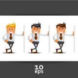 Set of office manager Royalty Free Stock Image