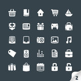 Set of Office and Media Icons Stock Photography