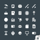 Set of Office and Media Icons Royalty Free Stock Photos