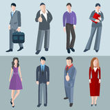 Set  office men and women workers Stock Image