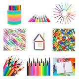 Set from office and school accessories Royalty Free Stock Photo