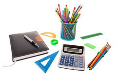 Set of office and school supplies. Royalty Free Stock Photography