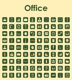 Set of office simple icons Stock Image