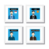 Set of office staff and management people - vector icons. This also represents concepts like employee, worker, manager, ceo, team-leader, president, executive Stock Images