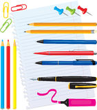 Set of office stationery Stock Photography