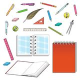 Set of office stationery Royalty Free Stock Photo