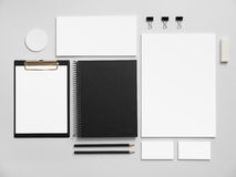Set of office stationery for brand presentation Royalty Free Stock Images