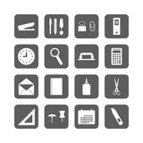 Set of office stationery icons Stock Photography