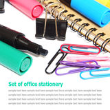 Set of office stationery isolated on white Royalty Free Stock Photos