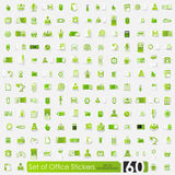 Set of office stickers Royalty Free Stock Images