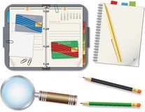 Set of office supplies Royalty Free Stock Images
