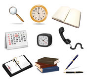 Set with office supplies. Stock Image