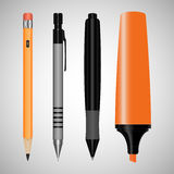 Set of office supplies. drawing Royalty Free Stock Photography