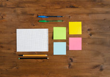 Set of office supplies Royalty Free Stock Photography