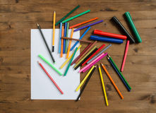 Set of office supplies Stock Image