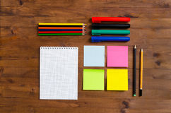 Set of office supplies Royalty Free Stock Photos